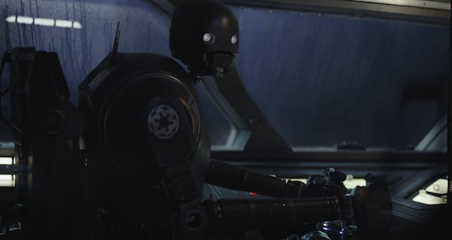 Rogue One: A Star Wars StoryK-2SO (Alan Tudyk)Photo credit: Lucasfilm/ILM©2016 Lucasfilm Ltd. All Rights Reserved.