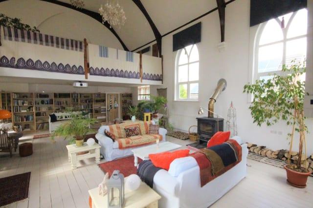 The stunning, light living room