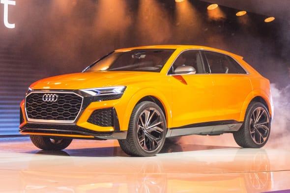 The Audi Q8 sport concept on the Geneva Motorshow 2017.
