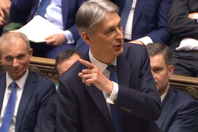 Chancellor of the Exchequer Philip Hammond making his Budget statement to MPs in the House of Commons.