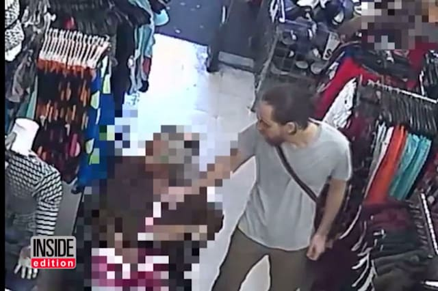 CCTV catches thief stealing from elderly woman's bra