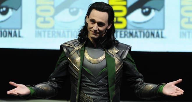 Tom Hiddleston as Loki at San Diego Comic-Con 2013