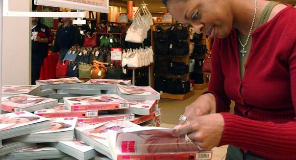 Kara Anderson of Peabody, Massachusetts looks through The Big Book catalog