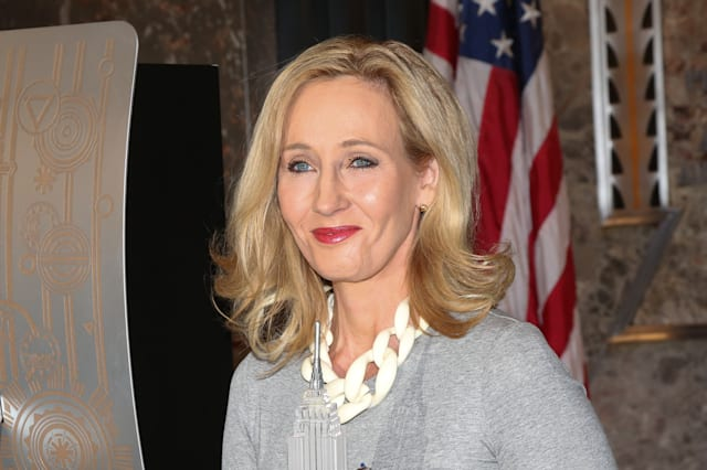 Author J.K. Rowling Visits The Empire State Building