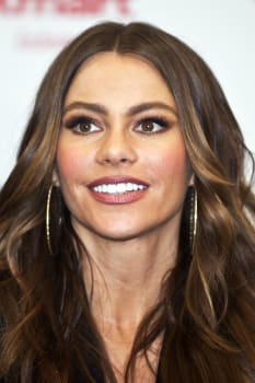 Sofia Vergara meets with the public and signs autographs while promoting her clothing line at the Astor Place Kmart in New York