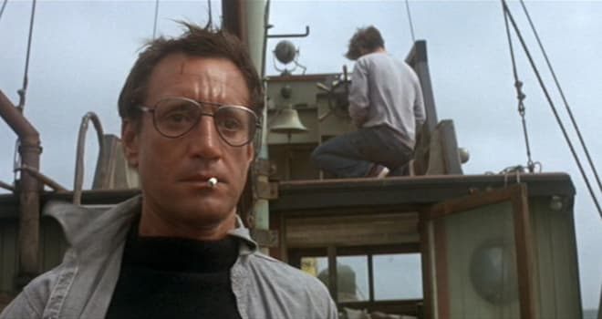 """roy scheider as police chief martin brody in """"jaws"""""""