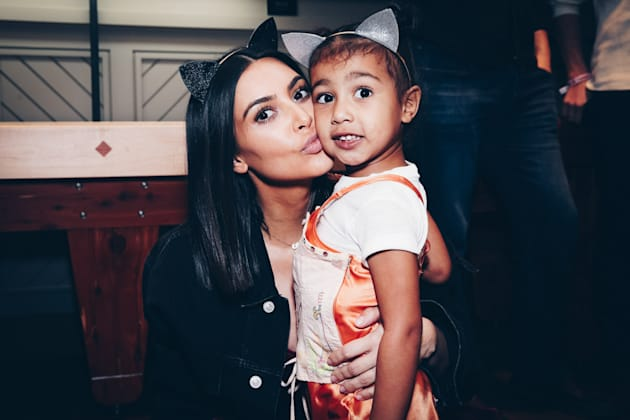 Kim Kardashian and daughter North West attend Ariana Grande's Dangerous Woman Concert Inglewood, California....
