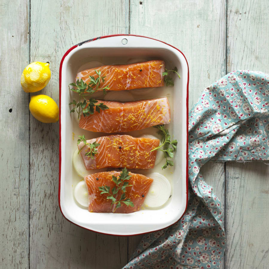 Fatty fish, such as salmon, are a good source of vitamin