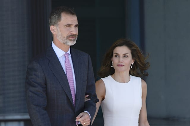 Spanish Royals Depart to United Kingdom