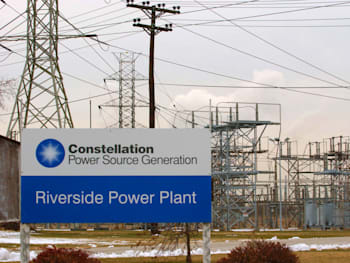 A Constellation Energy Group Inc. power plant is seen in Bal