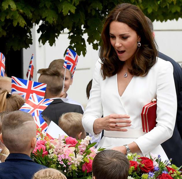 Duchess of Cambridge Kate Middleton in Poland