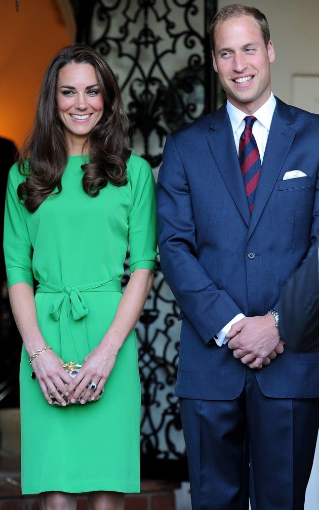 Kate Middleton in DVF green dress