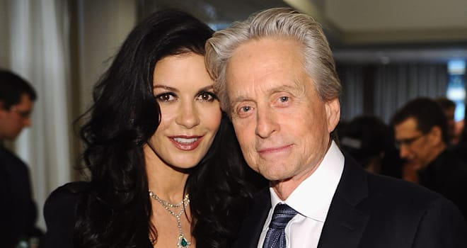Catherine Zeta-Jones and Michael Douglas at The Film Society of Lincoln Center's 40th Chaplin Award Gala on April 23, 2013