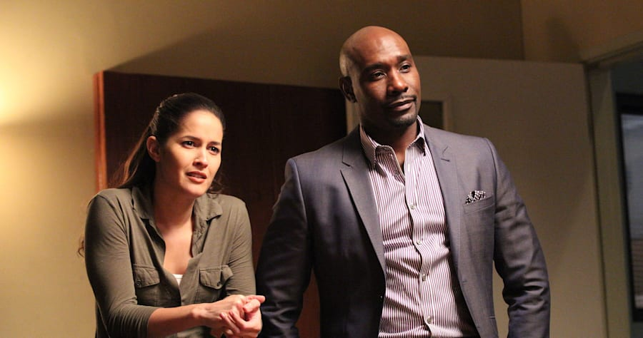 "ROSEWOOD: Pictured L-R: Jaina Lee Ortiz as Detective Annalise Villa and Morris Chestnut as Dr. Beaumont Rosewood, Jr. in the ""Have-Nots and Hematomas"" episode of ROSEWOOD airing Wednesday, Oct. 7 (8:00-9:00 PM ET/PT) on FOX. �2015 Fox Broadcasting Co. Cr: Adam Taylor/FOX."