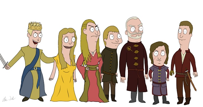 game of thrones, bobs burgers, lannister