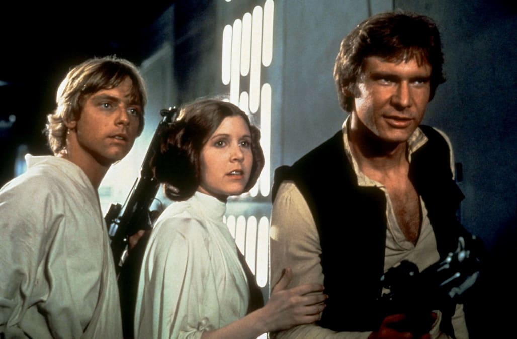 MARK HAMILL CARRIE FISHER HARRISON FORD STAR WARS: EPISODE IV - A NEW HOPE (1977)