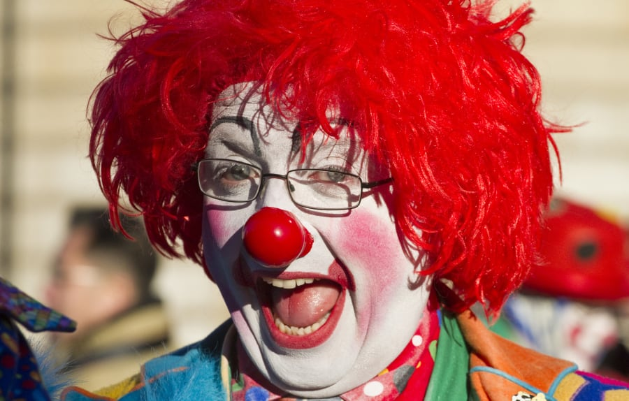 Settle down. This clown is NOT scary.