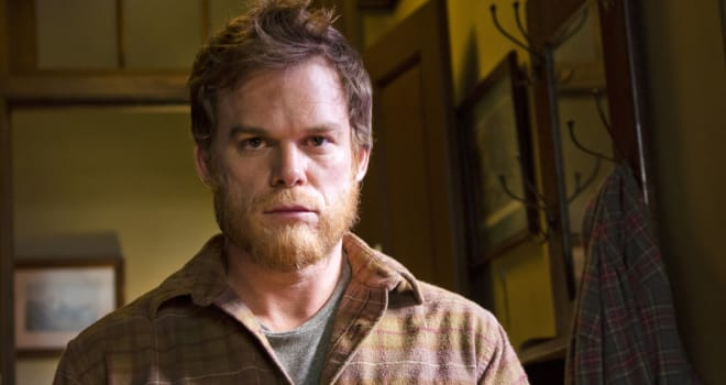 "This image released by Showtime shows Michael C. Hall as Dexter Morgan in a scene from the series finale of ""Dexter.""  (AP Photo/Showtime, Randy Tepper)"
