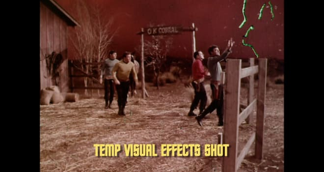 Temp special effects footage from STAR TREK
