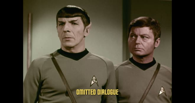 Leonard Nimoy and DeForest Kelley in STAR TREK