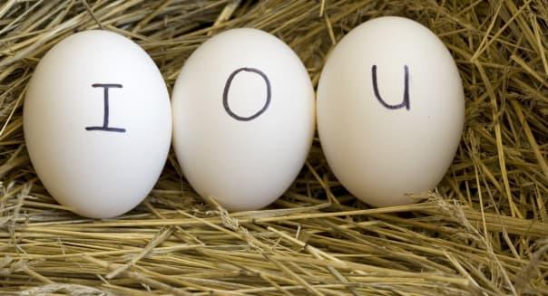 Nest egg IOU.