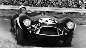 Stirling Moss in the 1954 Aston Martin DB3/S at Goodwood