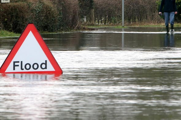£600m cost of flooding to economy