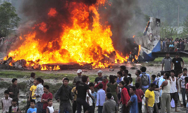 APTOPIX Nepal Plane Crash