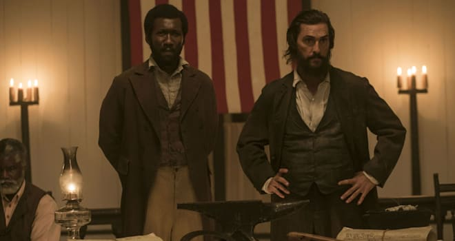 Mahershala Ali and Matthew McConaughey star in FREE STATE OF JONES