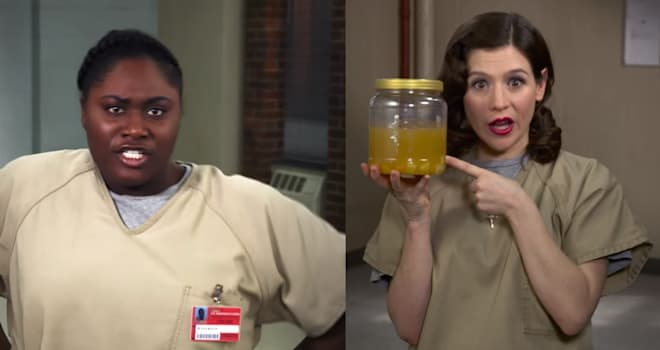 orange is the new black, oitnb, cast, parody, peeno noir, honey jar, unbreakable kimmy schmidt, kimmy schmidt