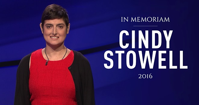 jeopardy, cindy stowell, tribute, contestant, champion, cancer