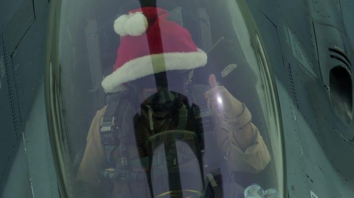 Santa Clause F-16 hat