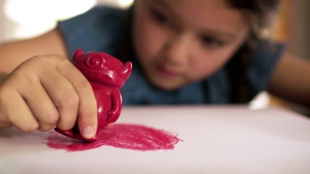 These crayons were designed using original children's