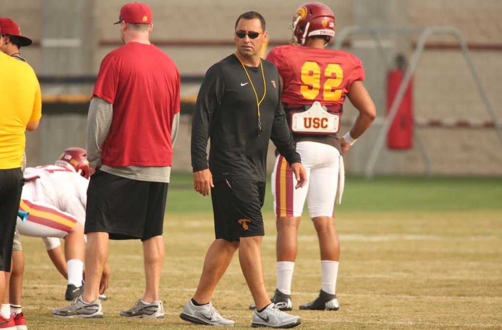 USC football coach Steve Sarkisian