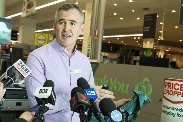 """CEO Brad Banducci says Woolworths is phasing out single-use bags because """"it's the right thing to"""