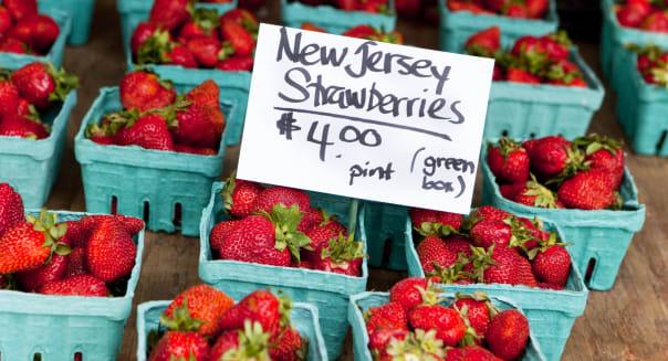 Strawberries at Union Square farmer's market.