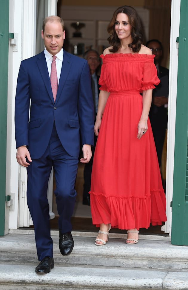 Catherine, Duchess of Cambridge and Prince William, Duke of Cambridge attend The Queen's Birthday Party...
