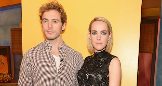 Jena Malone and Sam Claflin The Hunger Games Catching Fire
