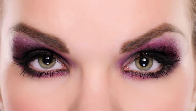 intense green eyes
