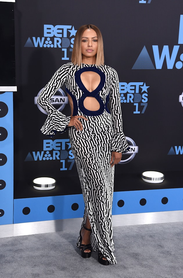 Kat Graham attends the 2017 BET Awards at Staples Center on June 25, 2017 in Los Angeles, California....