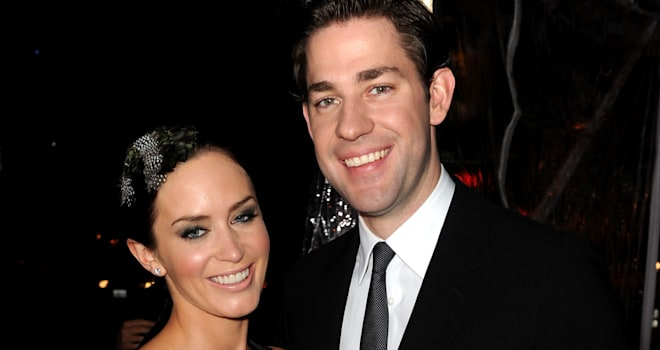 Emily Blunt and John Krasinski at the Premiere of 'The Wolfman' on February 9, 2010