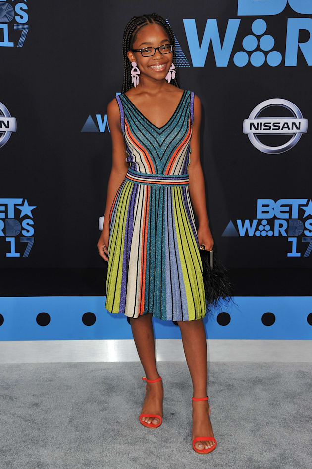 Actress Marsai Martin arrives at the 2017 BET Awards at Microsoft Theater on June 25, 2017 in Los Angeles,...