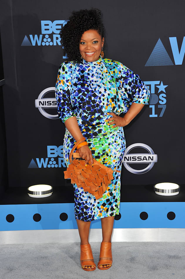 Actress Yvette Nicole Brown arrives at the 2017 BET Awards at Microsoft Theater on June 25, 2017 in Los...