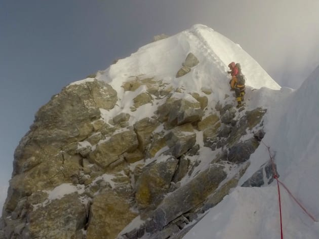 'It's official - The Hillary Step is no more' posted Everest Expedition on their Facebook page last
