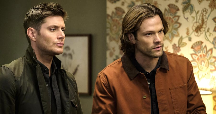 "Supernatural --""The Future"" -- SN1219a_0318.jpg -- Pictured (L-R): Jensen Ackles as Dean and Jared Padalecki as Sam -- Photo: Robert Falconer/The CW -- © 2017 The CW Network, LLC. All Rights Reserved"
