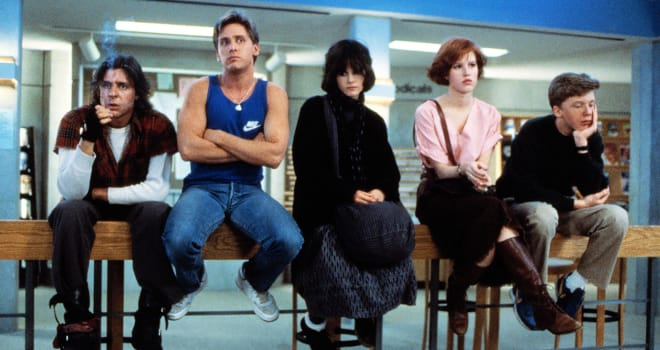 The cast of John Hughes's The Breakfast Club