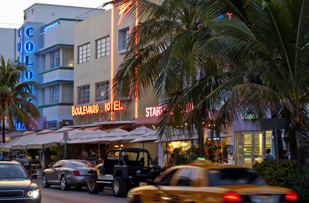 Ocean Drive, Miami Beach, Florida, USA