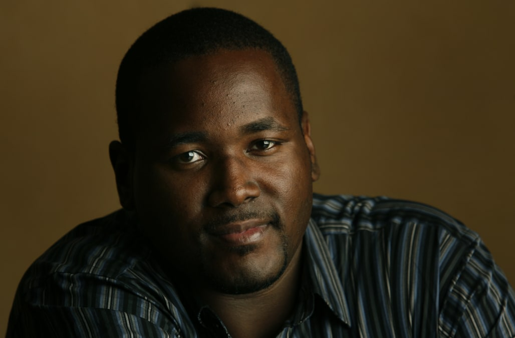 Quinton Aaron at the Four Season Hotel in Beverly Hills on Nov. 3, 2009. Aaron who is in a movie ca