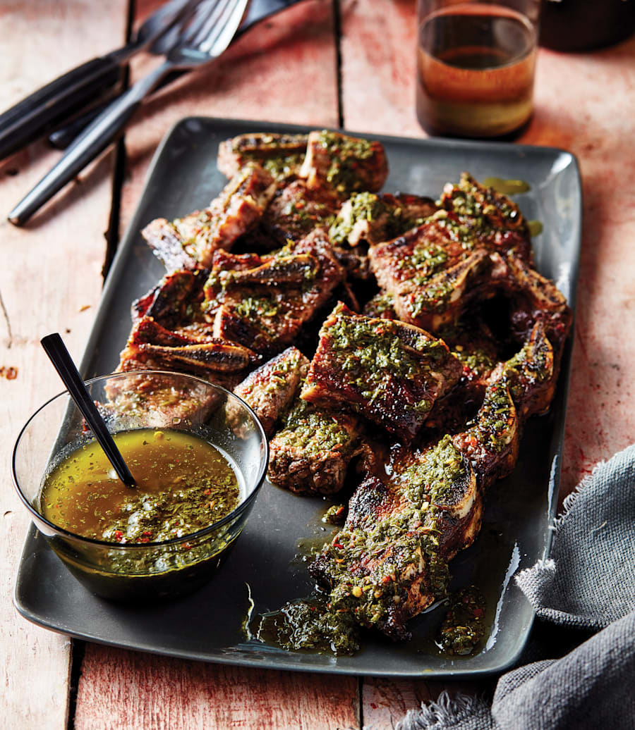 Chimmichurri is an uncooked sauce perfect for grilled meat, both as a marinade and