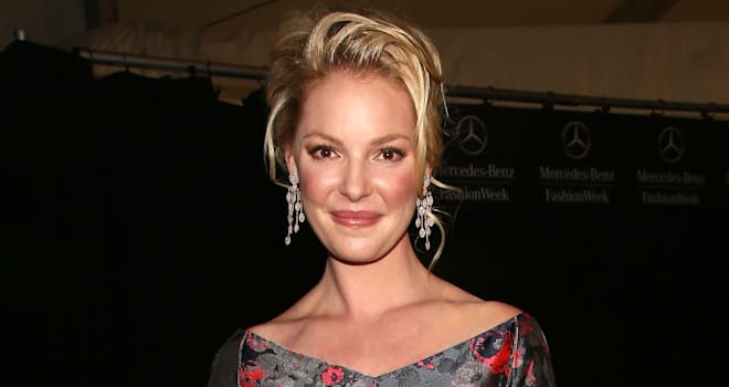 Katherine Heigl at the Fall 2013 Mercedes-Benz Fashion Week
